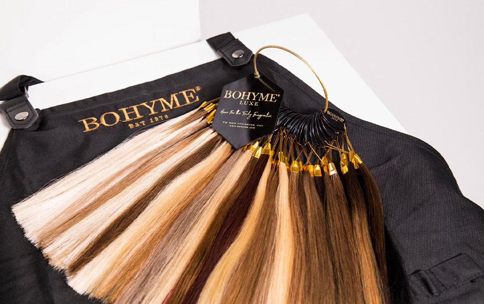 hår extensions af 100% naturligt hår